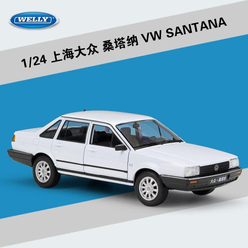 1 24 Volkswagen Santana литые под давлением модели автомобилей статическое моделирование миниатюрные Автомобили Металлические коллекционные игрушк...