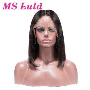 Image 4 - Pelucas Bob corto Rubio 613, peluca de cabello humano con encaje frontal 150% liso de la señora Lula Remy, Peluca de encaje Natural Ombre brasileño para mujer