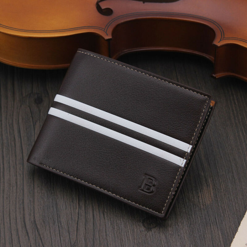 Men's luxury leather short purse Short leather wallet Easy to carry Popular Black Brown With Zip