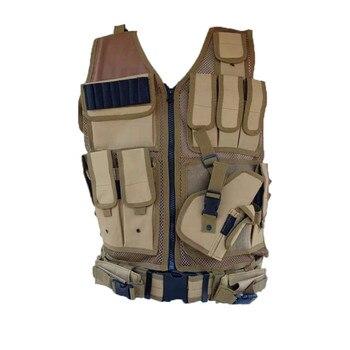 Открытый тактический жилет Камуфляжный пуленепробиваемый жилет swat разгрузка тела Броня полиэстер Пейнтбол оборудование охотничий жилет д...