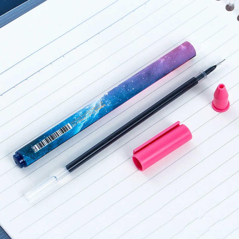 12 ชิ้น/กล่อง Creative Constellation Series เจลปากกา Starry Sky สำนักงานโรงเรียนนักเรียนเขียนปากกาสีดำอุปกรณ์เครื่องเขียน