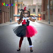 Moeble Children Cosplay Costume Girls Tutu Dress with Headband Kids Party Dresses for Birthday Halloween Christmas Summer