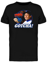 Rookie Of The Year Gotcha Retro Baseball Movie Men'S Black T-Shirt Loose Plus Size? Tee Shirt(China)
