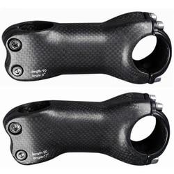 Ângulo 6/17 graus 31.8mm matte completo 3k fibra de carbono haste estrada/mtb peças de bicicleta 70mm 80mm 90mm 100mm 110mm 120mm 130mm mm