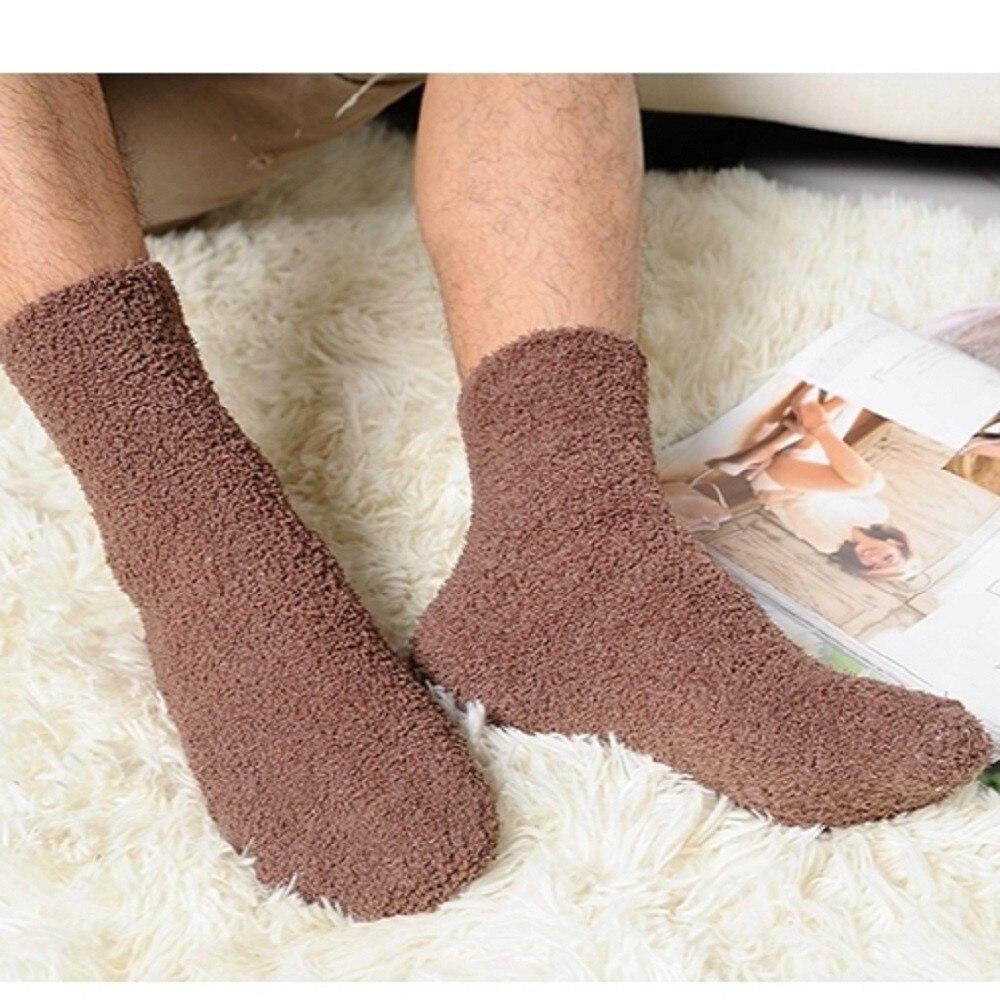 Men Boys Fuzzy Socks Soft Warm Fluffy Cute Cozy Winter Slipper Home Sleeping Thicken Comfortable