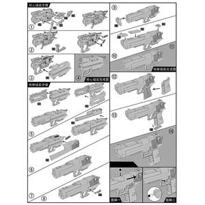 Image 5 - DIY Assembling Building Block Gun Toys Pistol Rifle Children Plastic 3D Miniature Gun Model For Boys CS Games Educational Toy