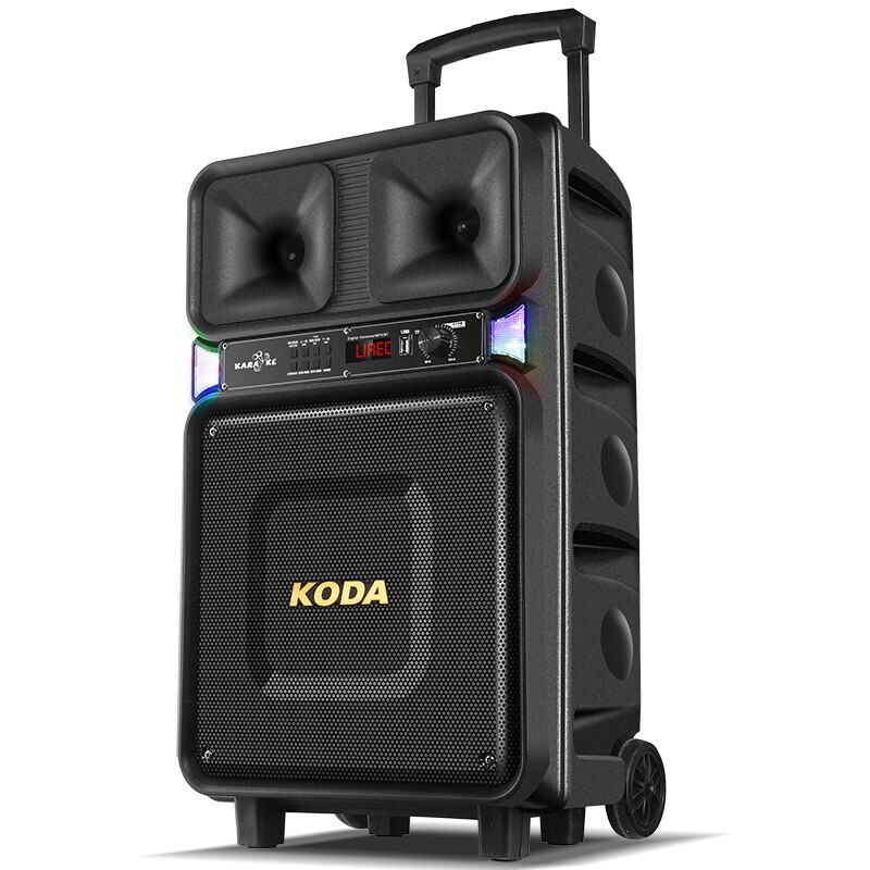 8''Bluetooth haut parleur stéréo basse 120W guitare haut parleur lumière colorée haut parleur haut parleur Mobile chariot haut parleur avec antenne - 3