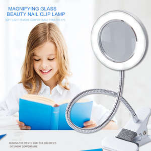 LED Desk Lamp Clip on Light Magnifying Glass Clamp Lamp Eye Protection Table Lamp For Reading Tattoo Computers And Makeup Light