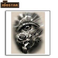 Полный квадрат/круглый 5d diy Алмазная Картина абстрактные глаза