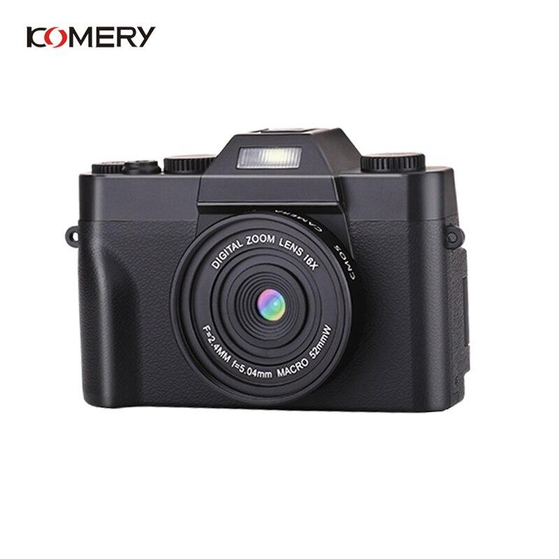 KOMERY профессиональная цифровая камера 3,0 дюймов ЖК экран 4K видеокамера 16X цифровой зум HD выход Поддержка Wi Fi селфи камера