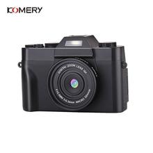 KOMERY Professional Digital Camera 3.0 Inch LCD Flip Screen 4K Video Camera 16X Digital Zoom HD Output Support WiFi Selfie Cam цена и фото