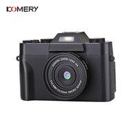 KOMERY Professional Digital Camera 3.0 Inch LCD Flip Screen 4K Video Camera 16X Digital Zoom HD Output Support WiFi Selfie Cam