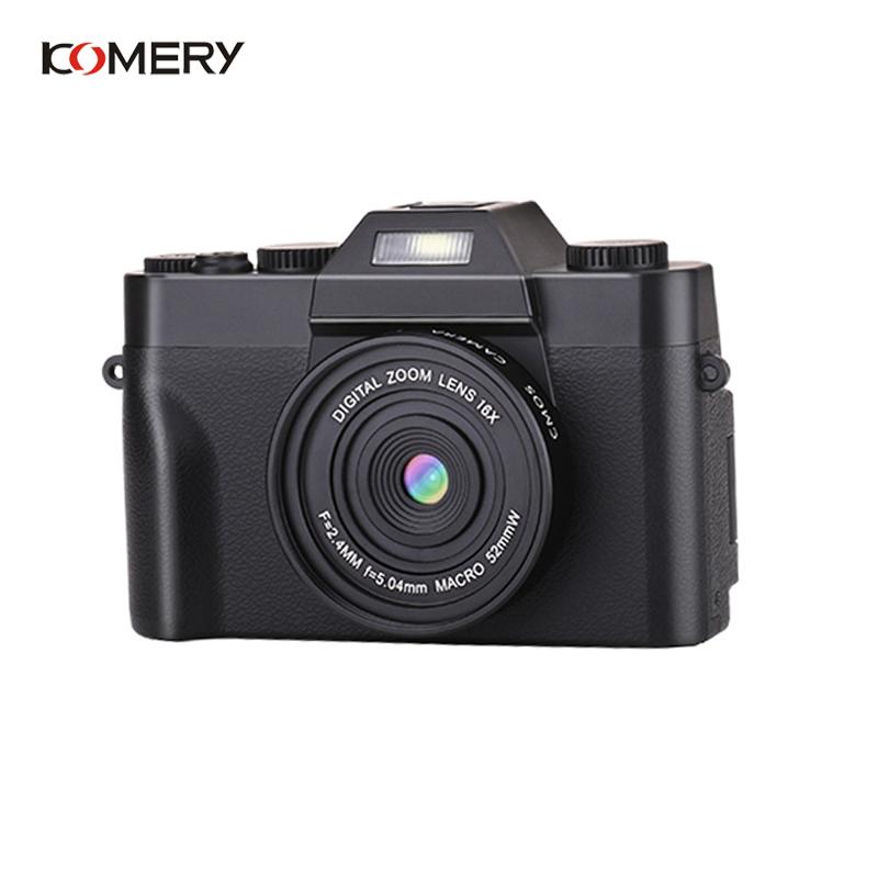 KOMERY Professional Digital Camera 3.0 Inch LCD Flip Screen 4K Video Camera 16X Digital Zoom HD Output Support WiFi Selfie Cam image