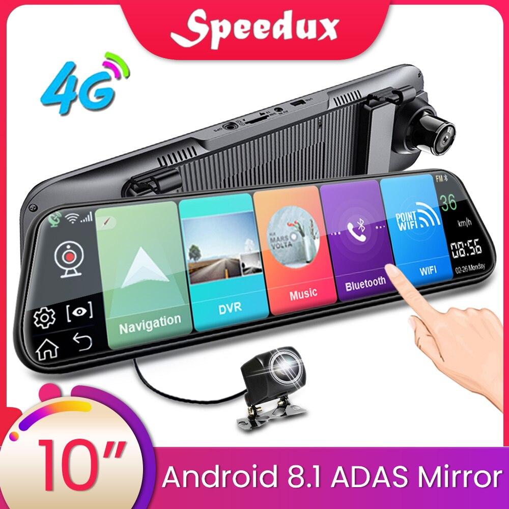 Dash Cam 10 Inch 4G Car Rearview Mirror Car DVR Mirror Android FHD Auto Recorder GPS Navigation Dash Camera Rear View Mirror