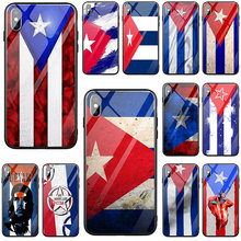 National Flag Cuba Flag Tempered Glass Phone Accessories Cas