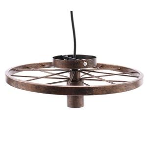 Image 4 - חדש רטרו ברזל אור תעשייתי מנורת נורדי מתכת גלגל אורות תליית מנורת E27 מקורה תאורת תקרת אור בית תפאורה