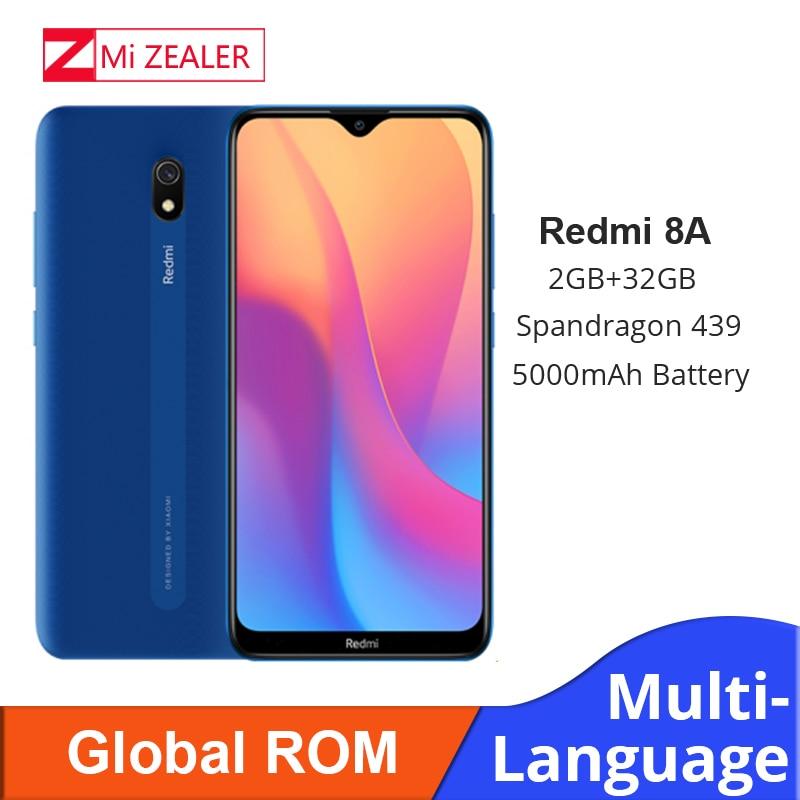 Original rom global xiaomi redmi 8a 2 gb ram 32 gb rom snapdragon 439 12mp câmera 5000 mah bateria smartphone octa cellhphone