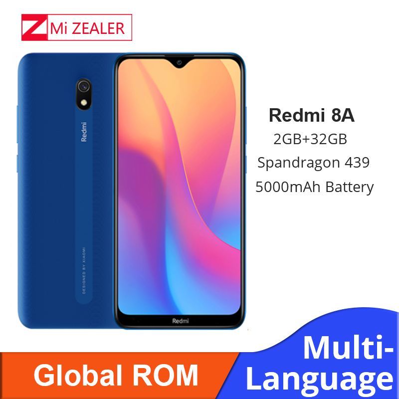 ROM globale d'origine Xiaomi Redmi 8A 2GB RAM 32GB ROM Snapdragon 439 12MP appareil photo 5000mAh batterie Smartphone Octa téléphone portable