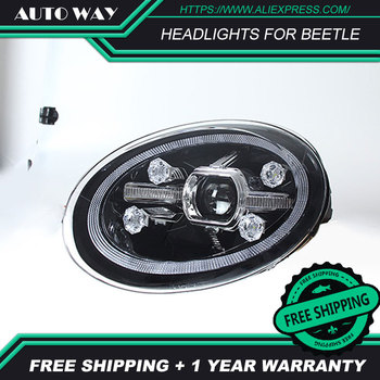 Car styling LED HID Rio LED For Beetle headlights Head Lamp case for VW Beetle 2013 2014 Bi-Xenon Lens low beam