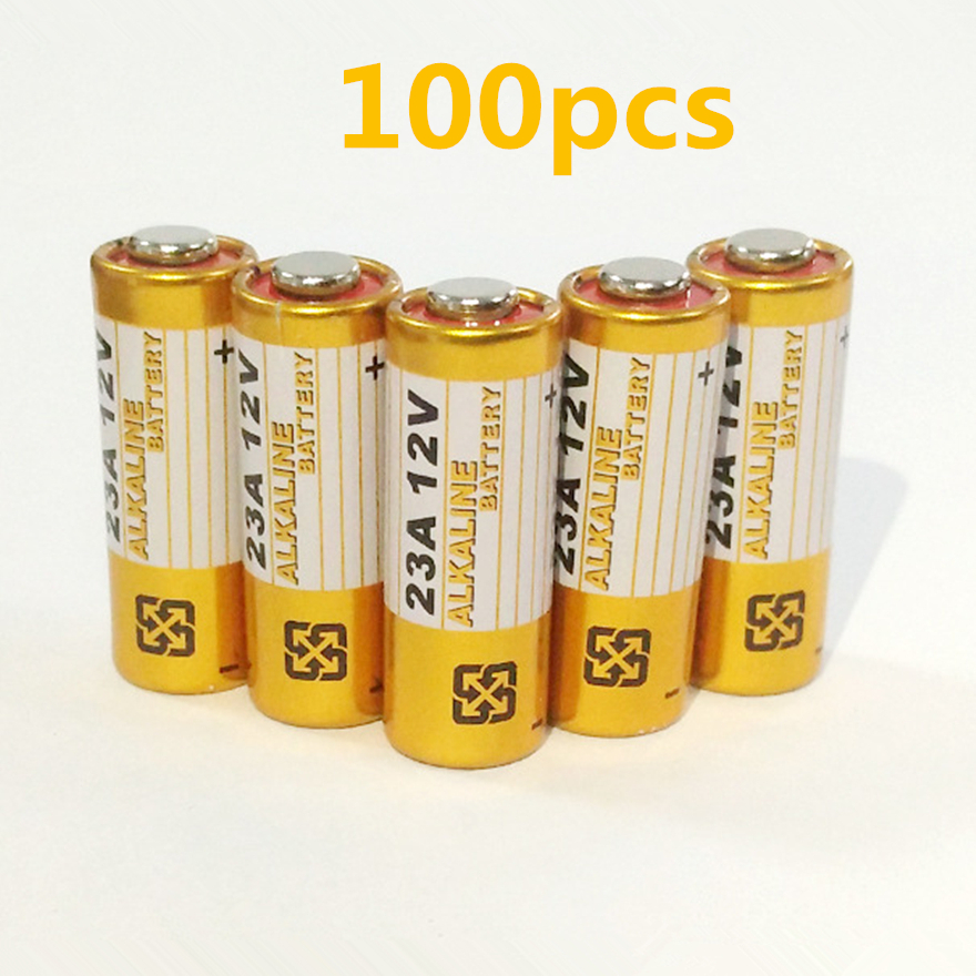 100pcs/lot Alkaline battery 12V 23A battery 12V 27A 23A <font><b>12</b></font> <font><b>V</b></font> 21/<font><b>23</b></font> A23 E23A MN21 RC control remote controller battery RC Part image