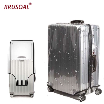 PVC Suitcase  Luggage Protective Case  travel Accessories Transparent Luggage Waterproof Dust Bag Covers pvc suitcase bag protective covers transparent rain dust luggage travel accessories wear resistant bag protect parts sleeve case