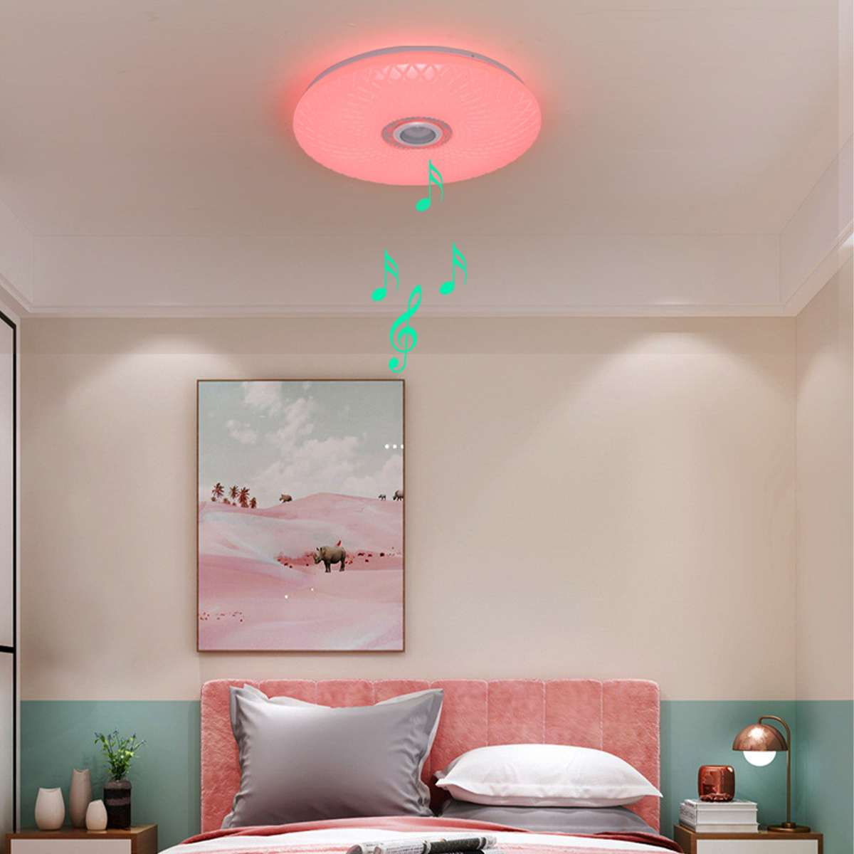 Hcf784b5cf4c54932b260dcef41752c07i Modern RGB LED Ceiling Light home lighing 36W/60W 40cm APP Remote Control bluetooth Music Light Bedroom Lamp Smart Ceiling Lamp