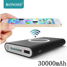 30000mAh Universal Portable Power Bank Qi Wireless Charger For iPhone Samsung S6 S7 S8 Powerbank Mobile Phone
