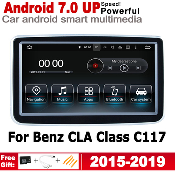 Android 7.0 up IPS car player For Mercedes Benz CLA Class C117 2015~2019 NTG original Style Autoradio gps navigation image