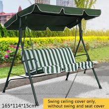 Verde/bege balanço superior cobertura dossel substituição varanda pátio ao ar livre dossel balanço cadeira toldo proteção contra raios uv