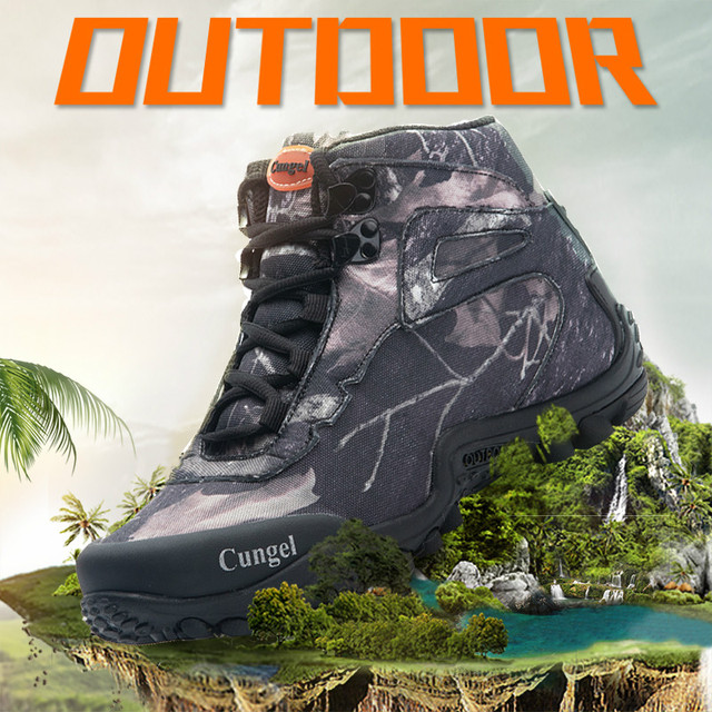 NEW Camo Tactical Boots Men Waterproof Military Tactical Boots Outdoor Combat Shoes Trekking Sneakers Man Hiking Hunting Boots 5