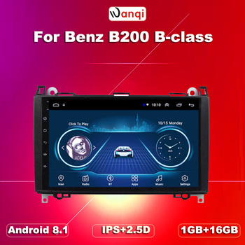 wan qi 9INCH Touch Screen CAR DVD PLAYER for Mercedes-benz B200 W169 A160 Viano Vito GPS NAVI RADIO BT support swc image