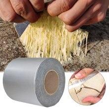 Bande de caoutchouc butyle auto-adhésif, feuille d'aluminium, résistant aux hautes températures, étanche pour la réparation des tuyaux de toit, autocollant anti-fuite