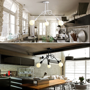 Image 5 - Ceiling Light Modern Nordic Simple Personalized Creative Lamps Nordic Restaurant Bedroom Living Room Metal Material Iron