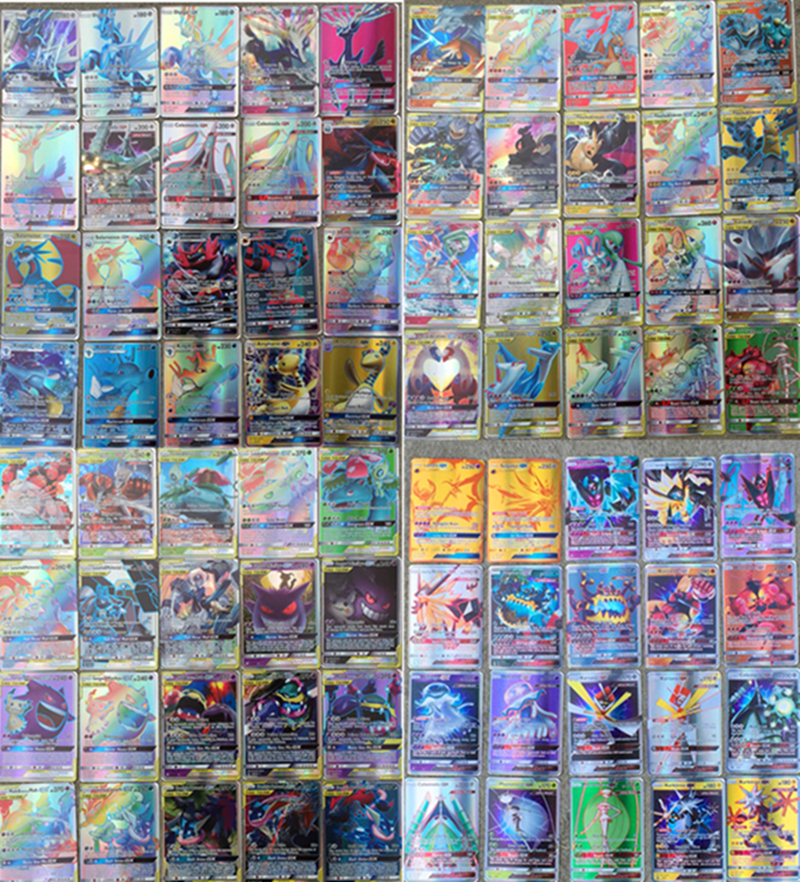 NEW 120pcs 40 TAG TEAM+80GX Ultra Beast Shining Cards Game Battle Carte Trading Cards Game For Children Toy Gifts