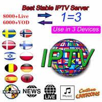 8000 Live Europe IPTV Subscription Rocksat France UK German Arabic Dutch  Poland Portugal Smart TV IPTV M3U For Android