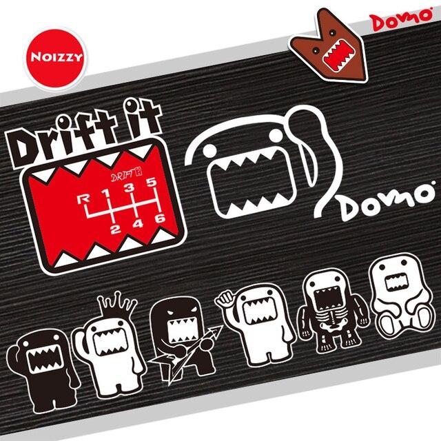 Noizzy Domo Kun Funny Car Sticker Cartoon Auto Decal Drift Cute Gear Vinyl Reflective Black White Body Window Tuning Car Styling