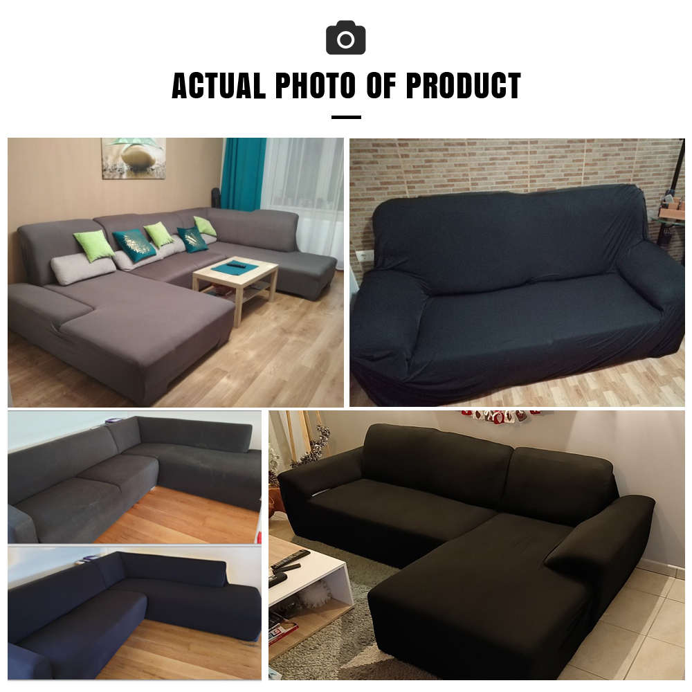 Image 5 - Elastic Stretch Sofa Cover 1/2/3/4 Seater Sof Slipcover Couch Covers for Universal Sofas Livingroom Sectional L Shaped SlipcoverSofa Cover   -