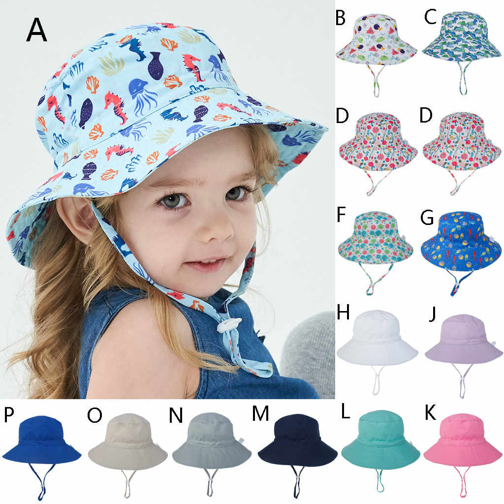 Children's hat spring and summer Europe and the United States new sun hat men and women baby breathable quick-drying beach hat