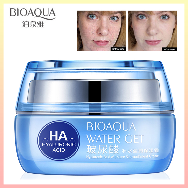 BIOAQUA Moisturizers Replenishment Cream Hyaluronic Acid Day Creams Face Skin Care Whitening Skin HA Anti Aging Anti Wrinkles