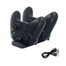 Çift şarj standı istasyonu denetleyicisi Xbox one kablosuz Gamepad için hızlı şarj USB standı tabanı Cradle Xbox olanlar kontrolörleri