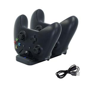 Image 1 - Çift şarj standı istasyonu denetleyicisi Xbox one kablosuz Gamepad için hızlı şarj USB standı tabanı Cradle Xbox olanlar kontrolörleri
