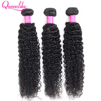 Queenlike Hair Products [30 Days No Reason Return] Real Human Hair Weave Bundles Non Remy 3 Bundles Malaysian Kinky Curly Hair - DISCOUNT ITEM  44% OFF All Category