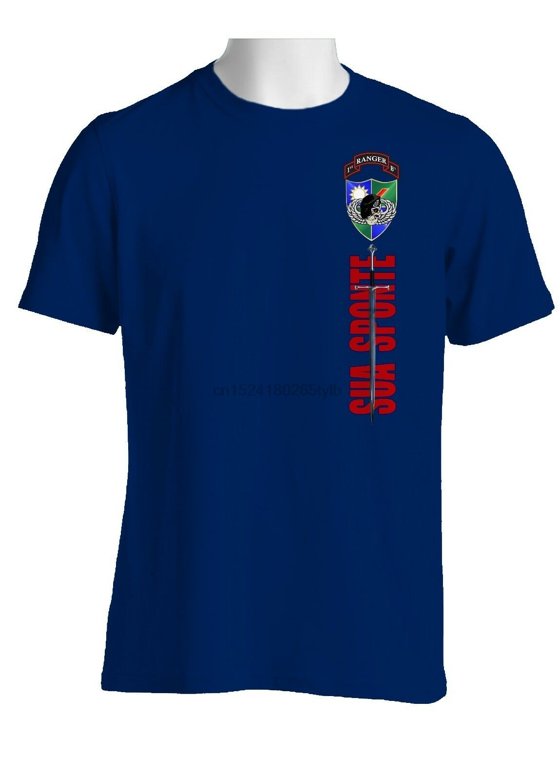 1-75th Ranger Battalion (Black Beret) Sword of St. Michael Cotton Shirt-1567