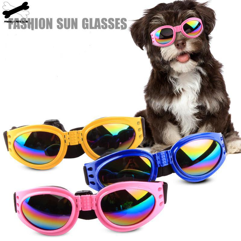 Dog Protection Goggles UV Sunglasses Foldable Cool Pet Dog Glasses Medium Large Dog Pet Glasses Pet Eyewear Waterproof