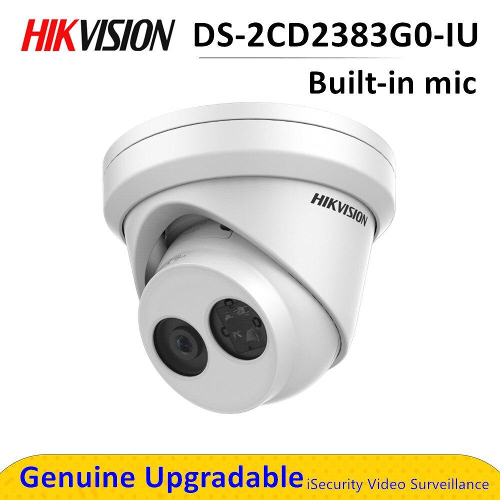 Caméra de sécurité POE cctv réseau DS-2CD2383G0-IU avec microphone intégré