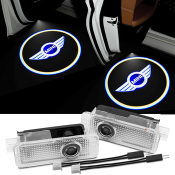 2pcs Car Door Light LED Logo car Welcome light For BMW MINI Cooper One S R50 R53 R56 R60 F55 F56 R58 R59 car styling Accessories 2pcs set door rear view mirrors cover case sticker decal car styling for mini cooper one s r50 r52 r53 2002 2006 accessories