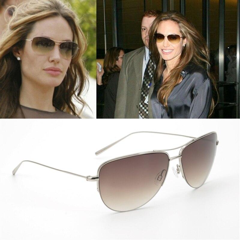 Pure Tianium β Hollywood Celebridade Oliver Strummer Óculos De Sol Dos Homens & Das Mulheres Designer De Marca Super leve 12g Piloto óculos de Sol de Vidro OV1004S
