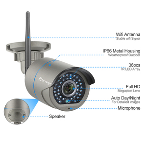 Image 3 - Techage 8CH H.265 Wifi NVR Camera System Two Way Speak Audio Wireless 4/6/8 Pcs 2MP CCTV IP Camera HD P2P Video Surveillance Kit
