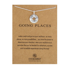 Hot Sale Going Places Silver Compass Message Necklace Pendant Jewelry For Women Girl Best Gift оптив капли глазные 10мл