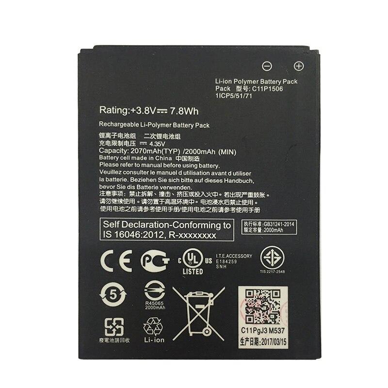 3.8V 2070mAh C11P1506 Battery For Asus Live G500TG ZC500TG Z00VD ZenFone Go 5.5 inch Cellphone